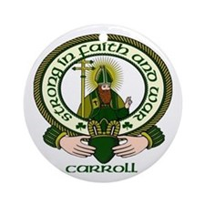Carroll Clan Motto Ornament (Round)