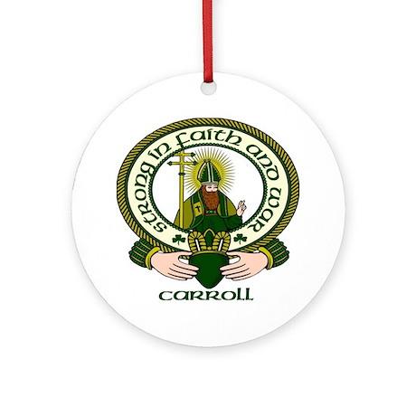 Carroll Clan Motto Ornament (Round)