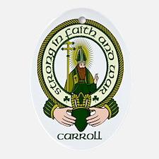 Carroll Clan Motto Ornament (Oval)