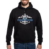Puget sound navy Hoodie (dark)