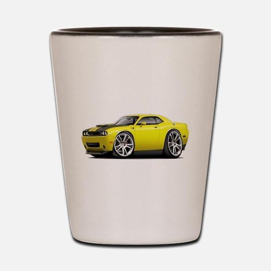 Hurst Challenger Yellow Car Shot Glass