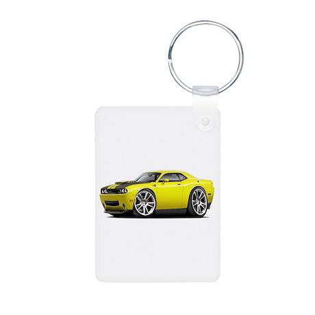 Hurst Challenger Yellow Car Aluminum Photo Keychai