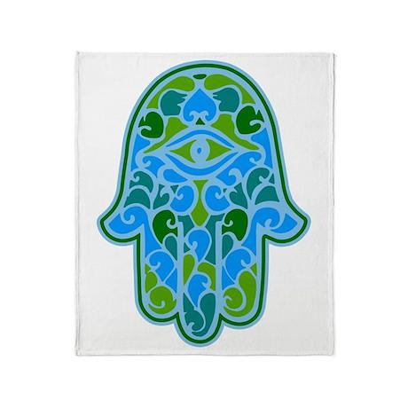 Artsy Hamsa Throw Blanket