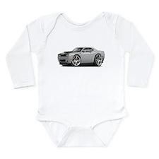 Hurst Challenger Silver Car Long Sleeve Infant Bod