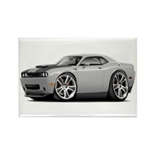 Hurst Challenger Silver Car Rectangle Magnet