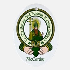 McCarthy Clan Motto Ornament (Oval)