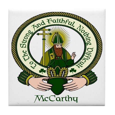 McCarthy Clan Motto Tile Coaster