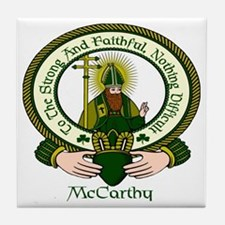 McCarthy Clan Motto Tile Coaster