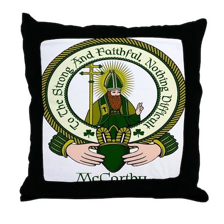 McCarthy Clan Motto Throw Pillow