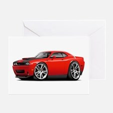 Hurst Challenger Red Car Greeting Card