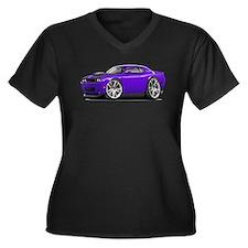 Hurst Challenger Purple Car Women's Plus Size V-Ne