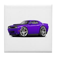 Hurst Challenger Purple Car Tile Coaster