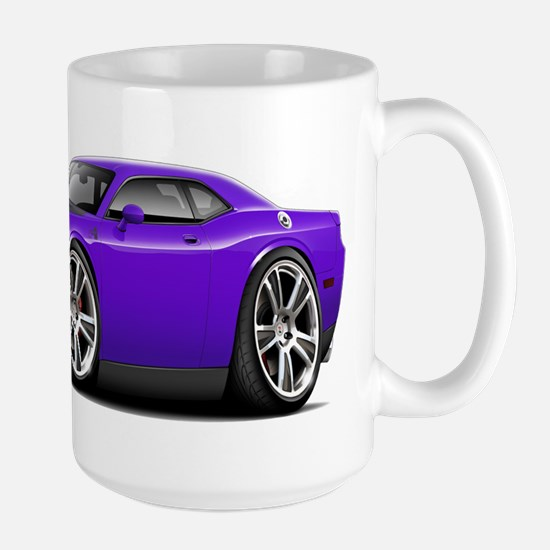 Hurst Challenger Purple Car Large Mug