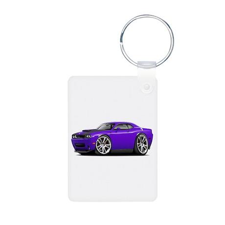 Hurst Challenger Purple Car Aluminum Photo Keychai