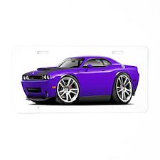 Hurst Challenger Purple Car Aluminum License Plate