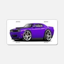 Hurst Challenger Purple Car Aluminum License Plate