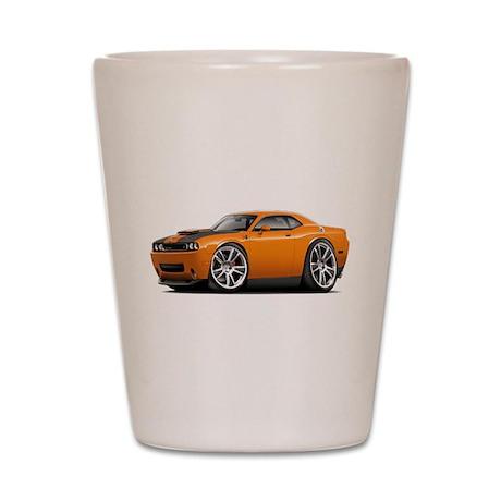 Hurst Challenger Orange Car Shot Glass