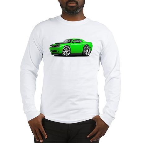 Hurst Challenger Lime Car Long Sleeve T-Shirt
