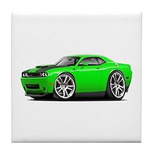 Hurst Challenger Lime Car Tile Coaster