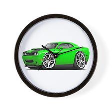 Hurst Challenger Lime Car Wall Clock
