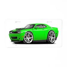 Hurst Challenger Lime Car Aluminum License Plate