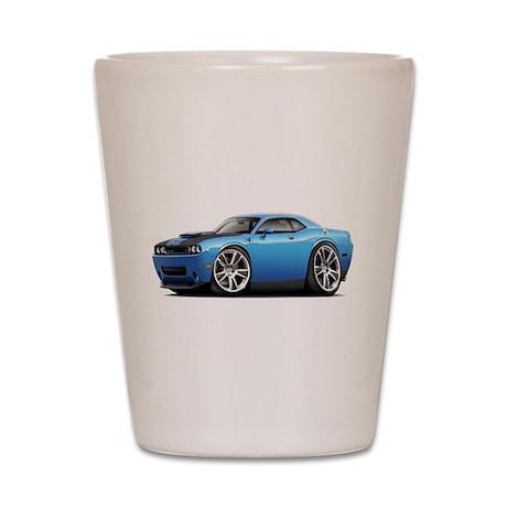 Hurst Challenger Blue Car Shot Glass
