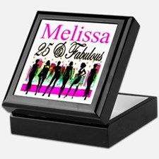 FASHIONABLE 25TH Keepsake Box