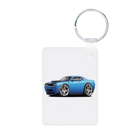 Hurst Challenger Blue Car Aluminum Photo Keychain