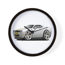 Hurst Challenger White-Gold Car Wall Clock