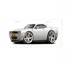 Hurst Challenger White-Gold Car Aluminum License P