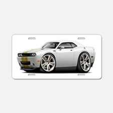 Hurst Challenger White-Gold Car Aluminum License P