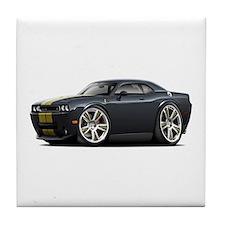 Hurst Challenger Black-Gold Car Tile Coaster