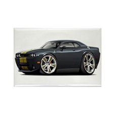 Hurst Challenger Black-Gold Car Rectangle Magnet