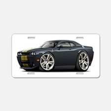 Hurst Challenger Black-Gold Car Aluminum License P