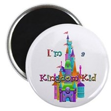 "Kingdom Kid w/ Castle Image 2.25"" Magnet (10"