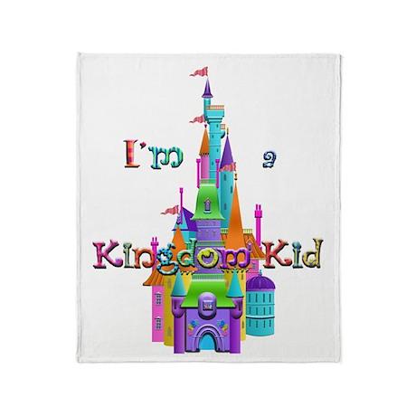 Kingdom Kid w/ Castle Image Throw Blanket