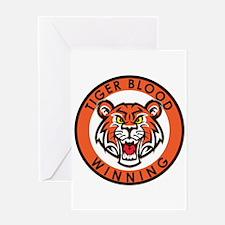 Tiger Blood....Winning Greeting Card