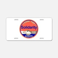 Solidarity Aluminum License Plate