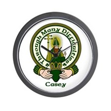 Casey Clan Motto Wall Clock