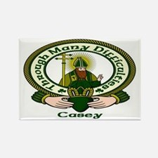 Casey Clan Motto Rectangle Magnet (10 pack)