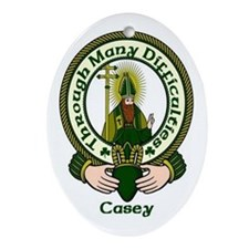 Casey Clan Motto Ornament (Oval)