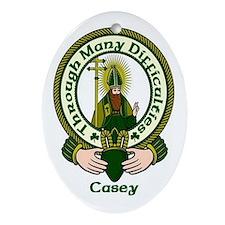 Casey Clan Motto Ornament (Oval)