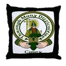Casey Clan Motto Throw Pillow