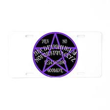 Purple Pentagram Board Aluminum License Plate