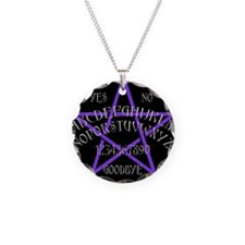 Purple Pentagram Board Necklace