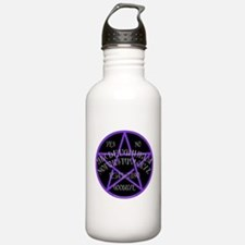 Purple Pentagram Board Water Bottle