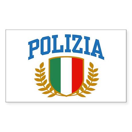 Polizia Sticker (Rectangle)