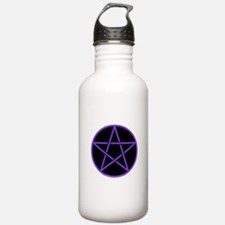 Purple/Black Pentagram Water Bottle