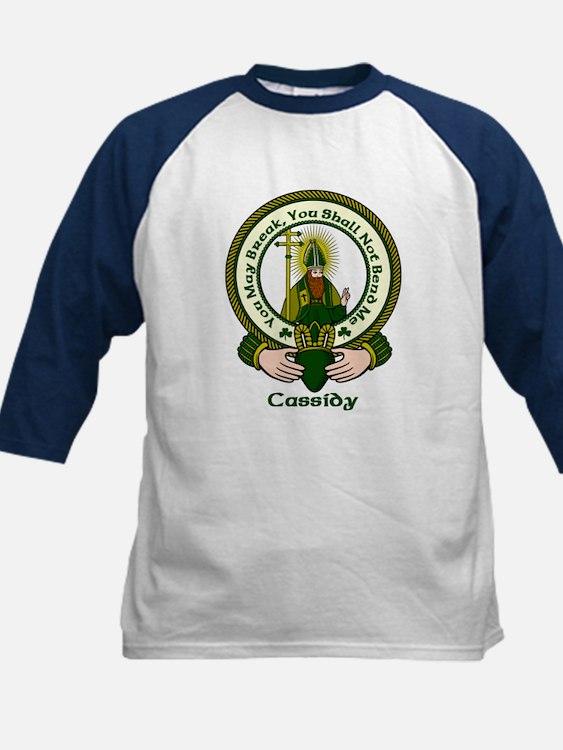 Cassidy Clan Motto Kids Baseball Jersey