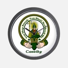 Cassidy Clan Motto Wall Clock